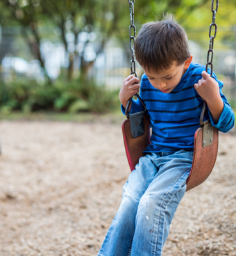 Photo of child swinging