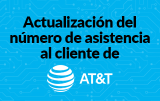 Actualización del número de asistencia de AT&T