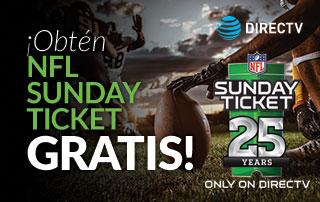 ¡Obtén el NFL Sunday Ticket Max de 2019 GRATIS!