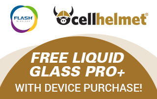Free cellhelmet with any Device Purchase of $200 and up!