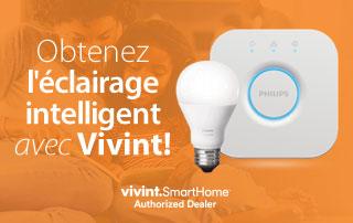 Obtenez l'éclairage intelligent avec Vivint!