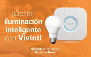 Obtén iluminación inteligente con Vivint
