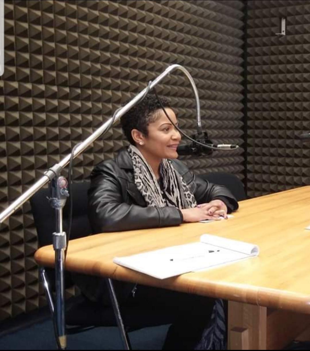 Tonya Anderson in studio