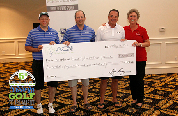 ACN Golf Tournament Breaks Records with Donation to Ronald McDonald House of Charlotte