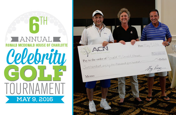 ACN Sixth Annual Ronald McDonald House Celebrity Golf Tournament Raises Record, Six-Figure Funds for Charlotte House